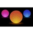Digital light balls vector