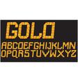 Gold mosaic font vector