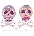 Mexican sugar skull set vector
