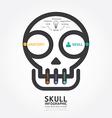 Infographics skull and brain design diagram line vector