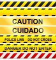 Caution tape vector