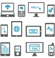 Icons set computers and mobile devices vector