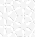 White simple flower seamless pattern vector
