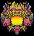 Psychedelic cannabis vector