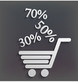 Modern shopping background with sales vector