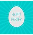 Easter egg sunburst background card vector