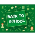 Welcome back to school flat design objects on a vector