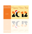 Voucher orange for 2012 with parrot vector