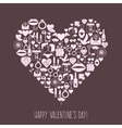 Valentines day mosaic icons heart card vector