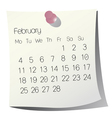 2013 february calendar vector