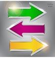 Set of colorful arrows website elements vector