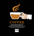 Coffee cup in hand vector