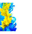Abstract blue and yellow background vector