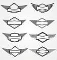 Vintage blank emblem vector