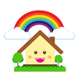 Isolated smile cartoon house cute happiness build vector