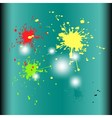 Colored splashes in abstract shape isolated backgr vector