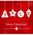 Christmas sale ornament holidays template vector