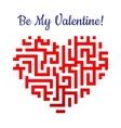 Valentine heart with labyrinth vector