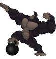Monkey athlete vector