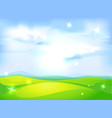 Horizontal natural background with blue sky vector
