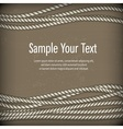 Set of ropes on brown  text vector