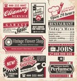 Retro newspaper ads design template vector