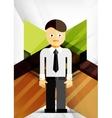Business geometric design background vector