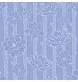 Pastel purple blooming branches seamless vector