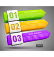 Abstract numbered banners 3d vector