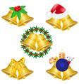 Christmas bells set icons vector