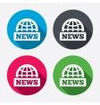 News sign icon world globe symbol vector