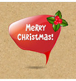 Speech bubble with christmas decoration vector