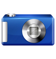 A blue digital camera vector