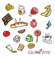 Handdrawn food vector