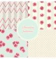 Set of vintage seamless patterns vector
