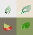 Bio logo green leaves leaves environmental icons vector