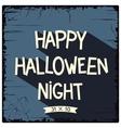 Happy halloween night poster vector