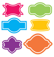 Colorful border frames label frames set vector