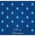 Christmas card with many trees vector