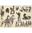 Traveling africa - an hand drawn pack vector