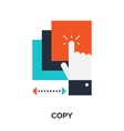 Copy icon vector