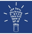 Light bulb with a quote vector
