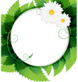 Summer foliage background vector