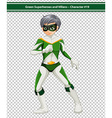 Green superhero vector