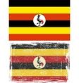 Uganda grunge flag  grunge effect can be cleaned vector