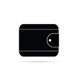 Wallet in black icon vector