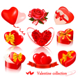 Set of valentine day elements vector