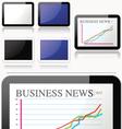 Simple clean 4 tablets set vector