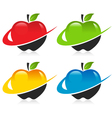 Swoosh apple icons vector