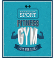 Fitness gym design vector